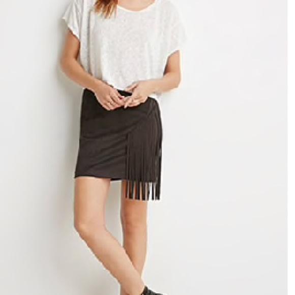05ae2f3f1 Forever 21 Skirts | Fringe Mini Skirt | Poshmark